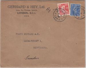 England/Schweden - Brief London - Göteborg 1948 2-Länder-Frankatur