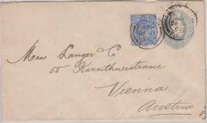 England - 2 1/2 P. Privatganzsache + Zusatz Brief n. ÖSTERREICH London 1902 n.