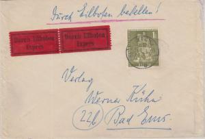 Berlin - 1 M. Stadtbilder II Kurfürst Eilbrief Lübeck - Bad Ems 1958