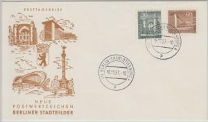 Berlin - 30+60 Pfg. Stadtbilder II Schmuck-FDC Charlottenburg 16.11.57