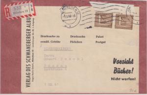 Berlin - 60 Pfg. Stadtbilder II Paar Einschreiben Päckchen-Vds München 1960