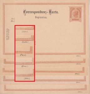 Österreich - 2 Kr. Franz-Jospeh Ganzsache 5 versch. Sprachvordrucke ungebraucht
