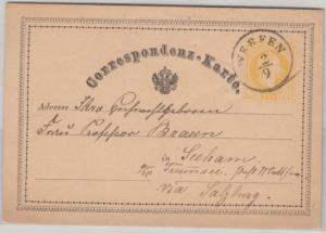 Österreich - Werfen 2/9 81873) K1 2 Kr. Ganzsache n. Seeham a. Traunsee
