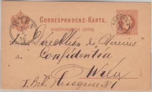 Österreich/Tschechien - Deschna 25.8.79 Fingerhutstempel 2 Kr. Ganzsache n. Wien