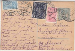 Österreich - 300 K. Ganzsache + Zusatz n. ITALIEN Wien - Capri 1924 Empfänger !!