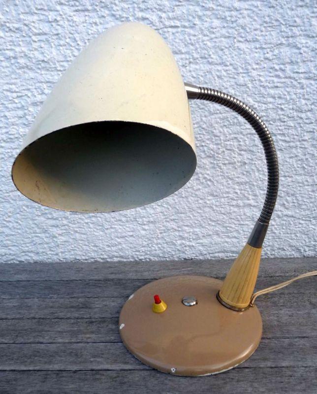 Alte Schreibtischlampe 50er Schwanenhals