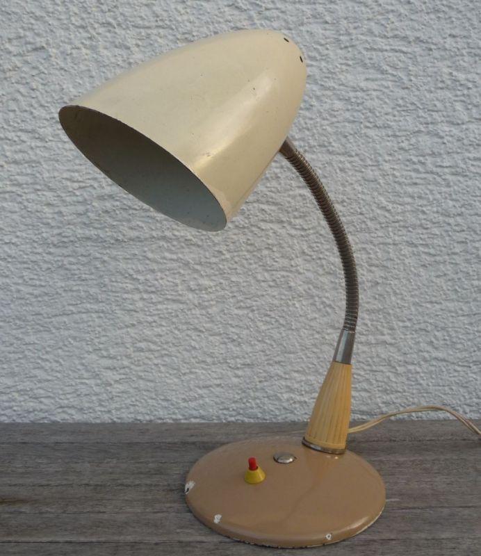 Alte Schreibtischlampe 50er Schwanenhals 1