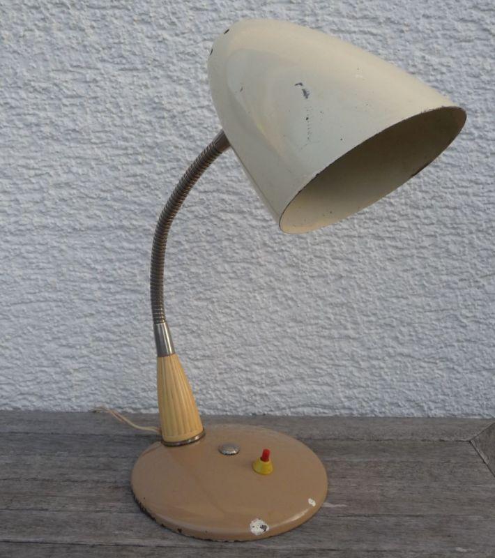 Alte Schreibtischlampe 50er Schwanenhals 3