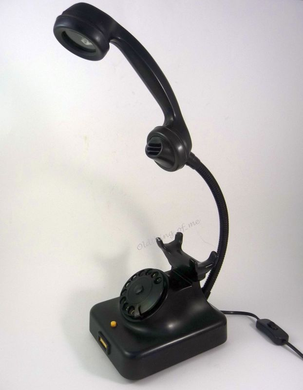 W 48 Telefonlampe Upcycling Schreibtischlampe Vintage 1