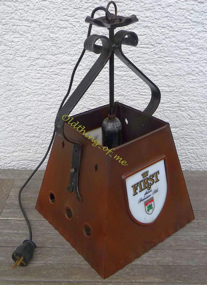 Thekenlampe Barlampe Dortmunder Ritter Bier Kupfer 1