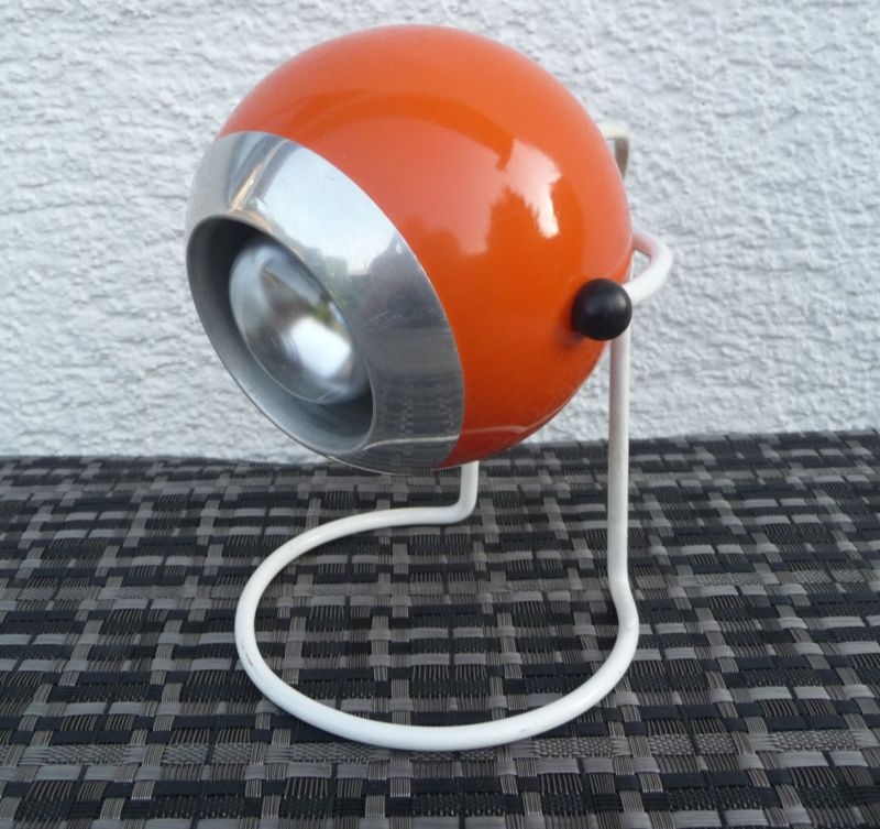 Kugellampe Tischlampe 70er Orange