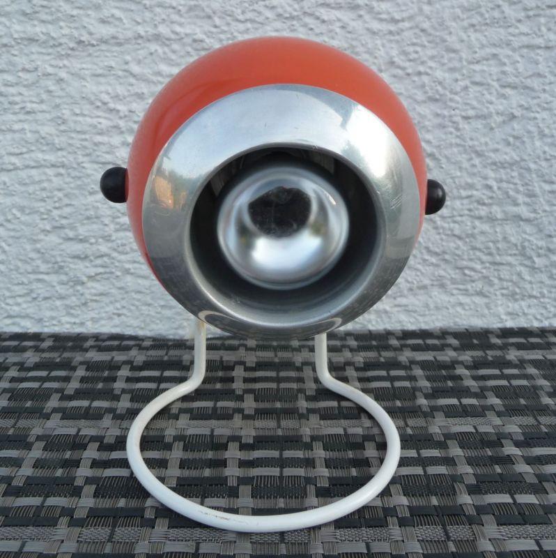 Kugellampe Tischlampe 70er Orange 1