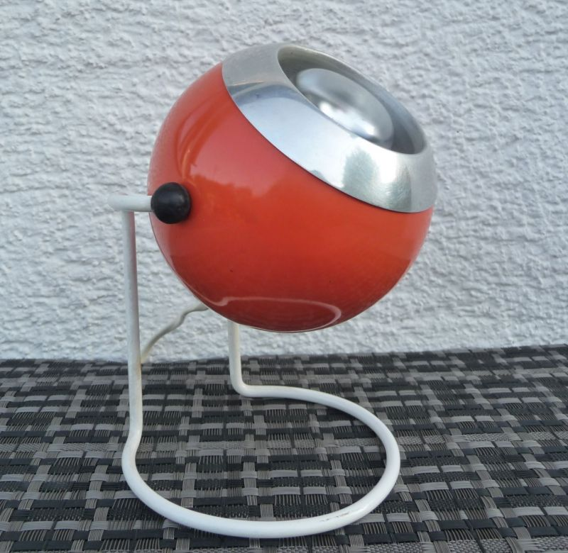 Kugellampe Tischlampe 70er Orange 2