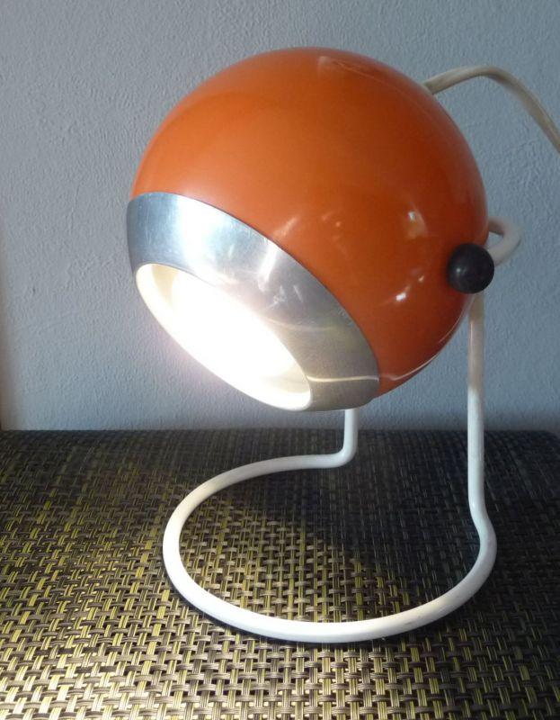 Kugellampe Tischlampe 70er Orange 3
