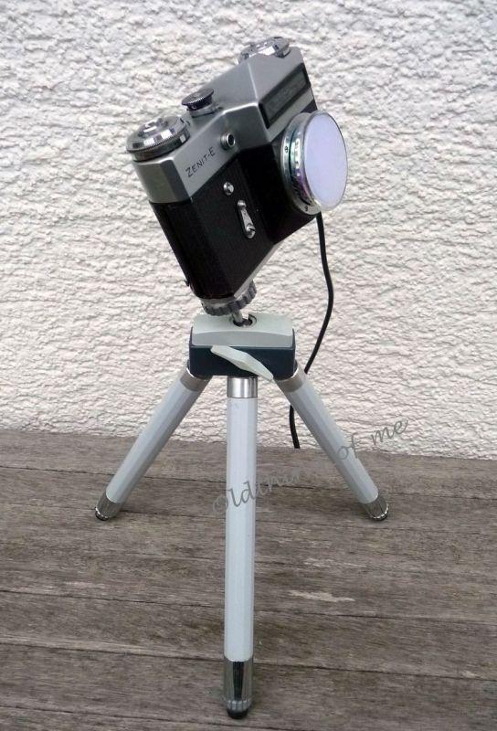 DIY Kameralampe auf Stativ 2,5W LED Upcycling 1