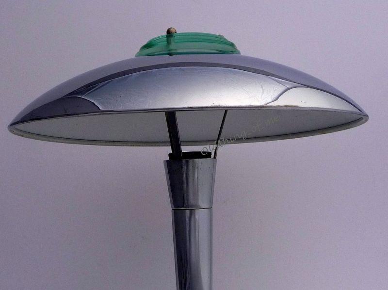 Design Tokyo Pilzlampe im Art Deco Stil Chrom 2