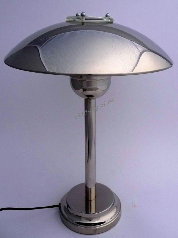 Design Artrium Pilzlampe im Art Deco Stil Chrom 2