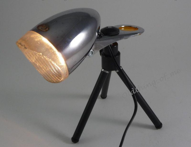 DIY alte Fahrradlampe auf Stativ Tischlampe DECO 1