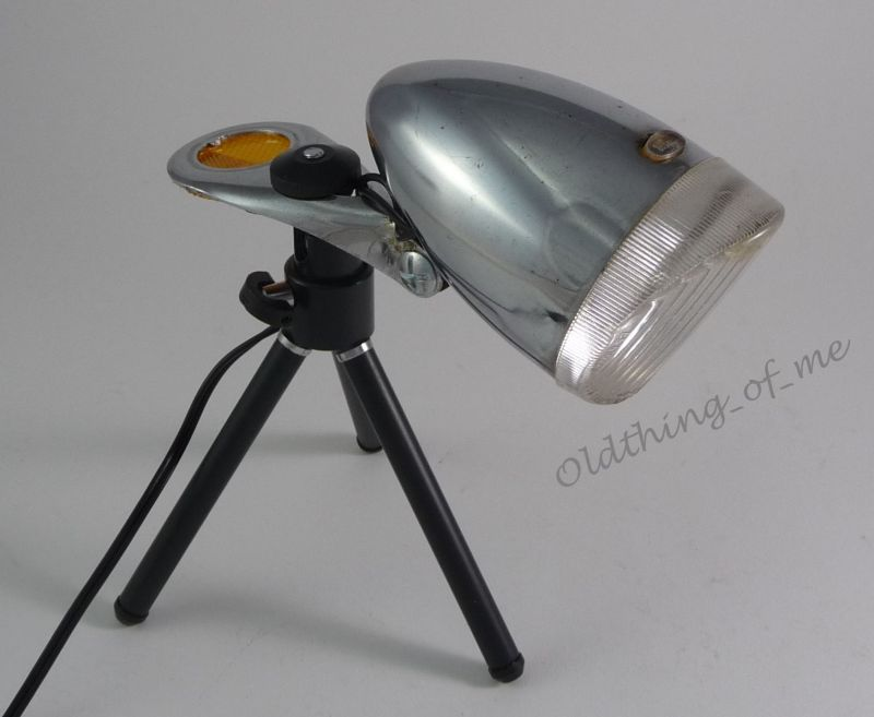 DIY alte Fahrradlampe auf Stativ Tischlampe DECO 2