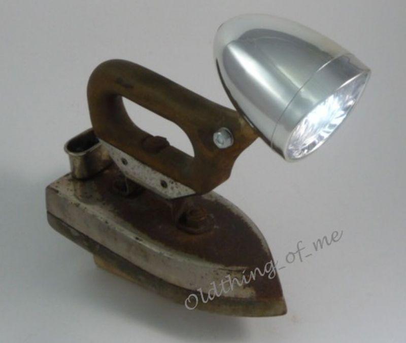 DIY altes Bügeleisen Lampe Tischlampe Grossag DECO 0