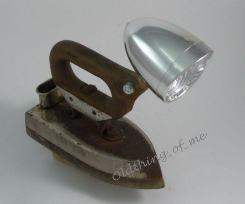 DIY altes Bügeleisen Lampe Tischlampe Grossag DECO 1