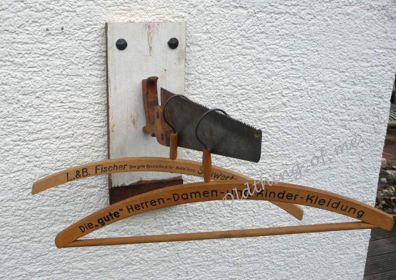 Upcycling Garderobe DIY Säge shabby chic
