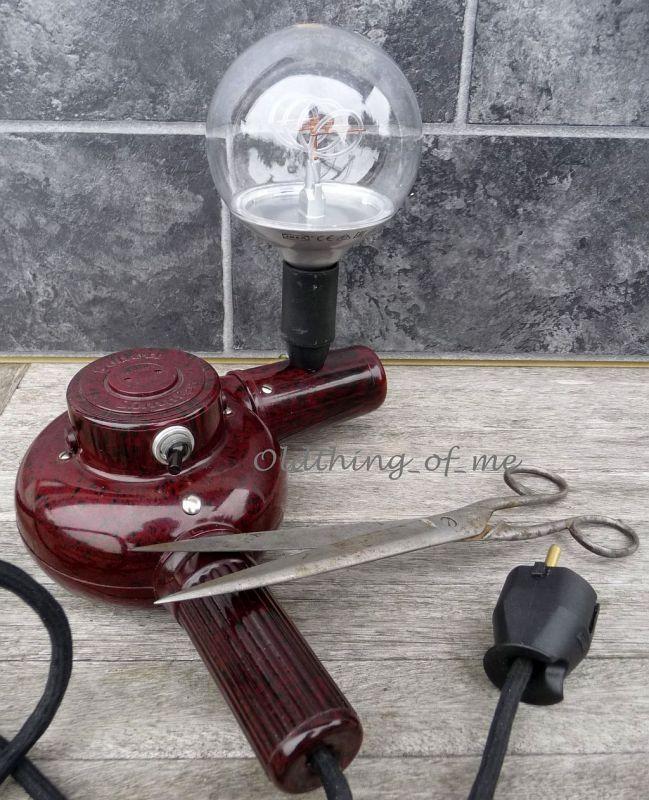 DIY Tischlampe Fön Upcycling 0
