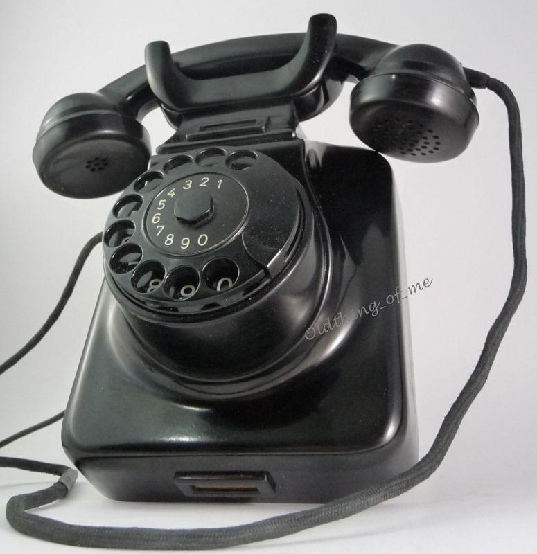 Telefon W48 W49 Hagenuk schwarz Wandtelefon umbaubar 1