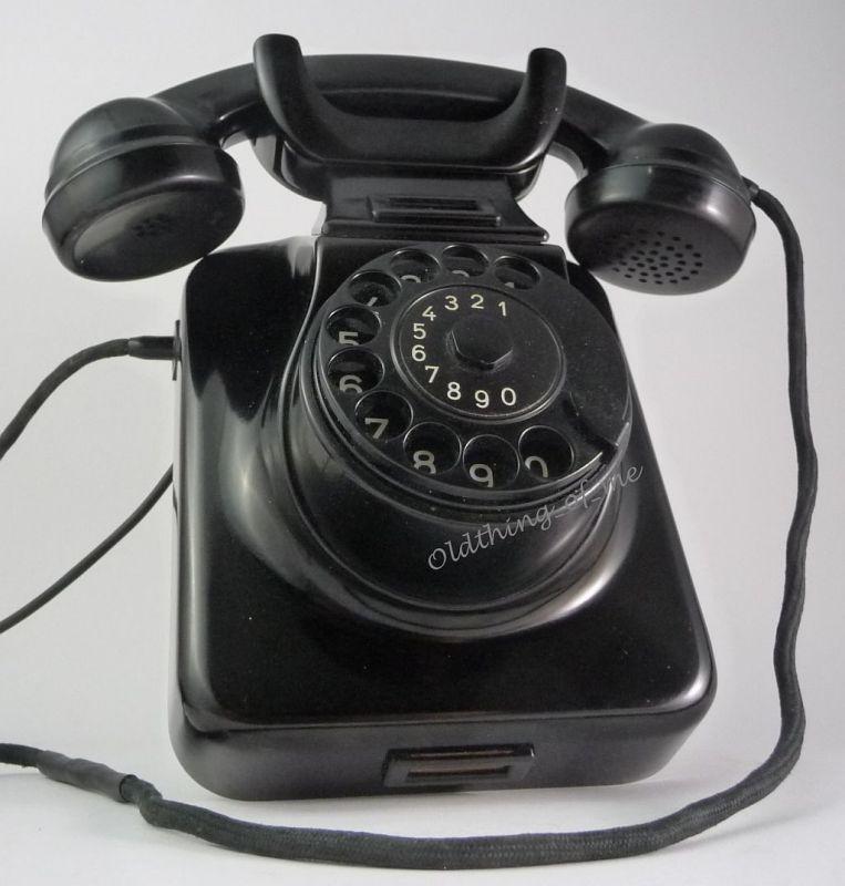 Telefon W48 W49 Hagenuk schwarz Wandtelefon umbaubar 2