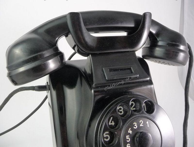Telefon W48 W49 Hagenuk schwarz Wandtelefon umbaubar 3