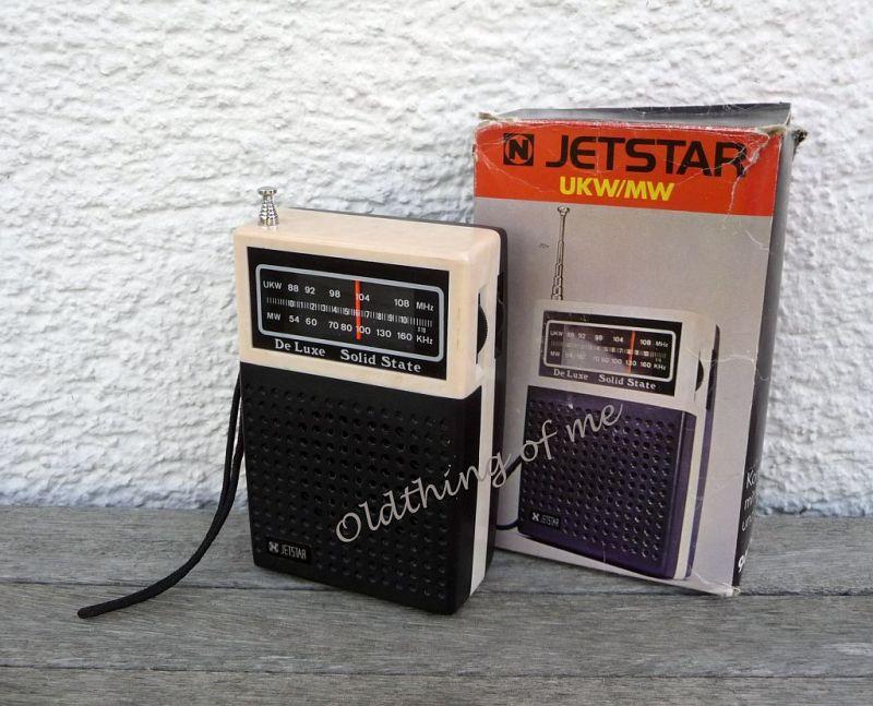 Tranistor Radio JETSTAR Solid State De Luxe UKW MW 0