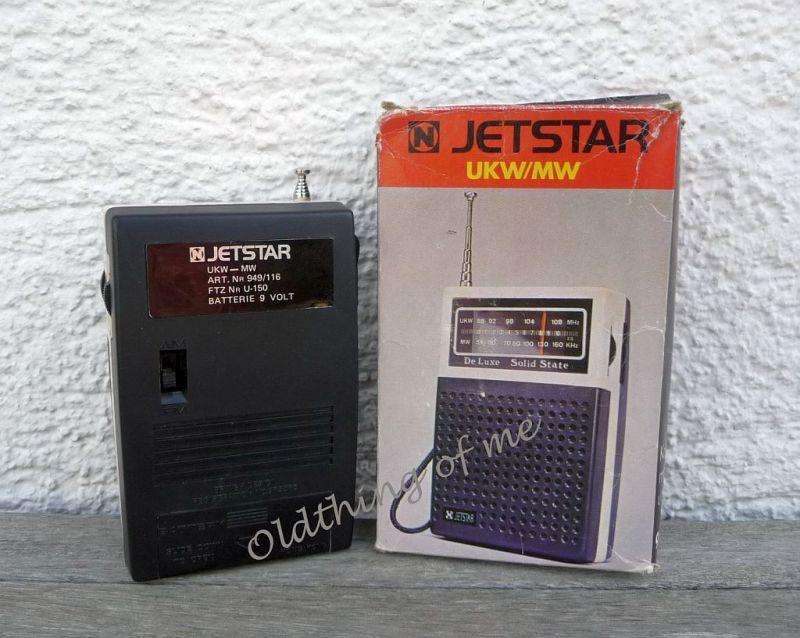 Tranistor Radio JETSTAR Solid State De Luxe UKW MW 1