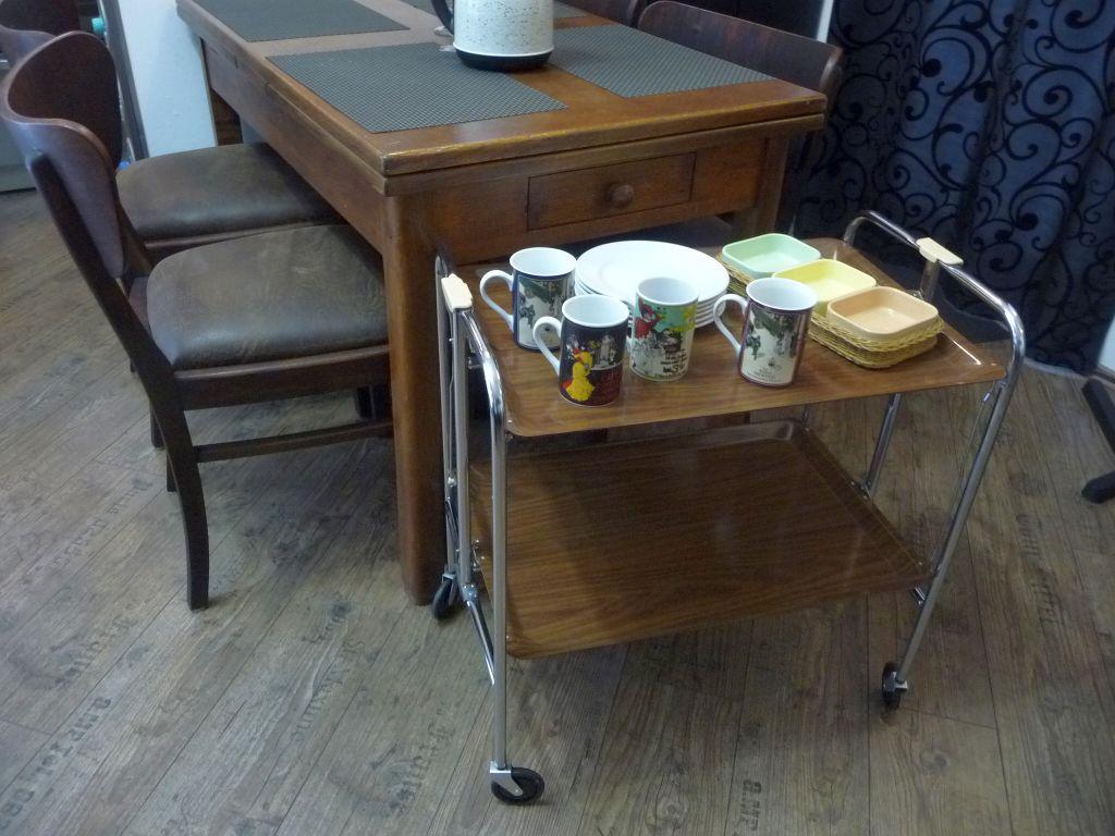 3 Dinett Servierwagen Teewagen Bremshey