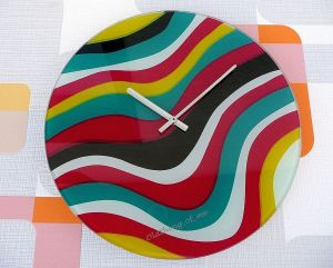 Nextime Wanduhr Pop Art Wave