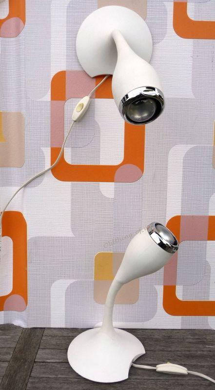 kultige Wandlampen von Carl Öjerstram Space Age 1 Paar 3