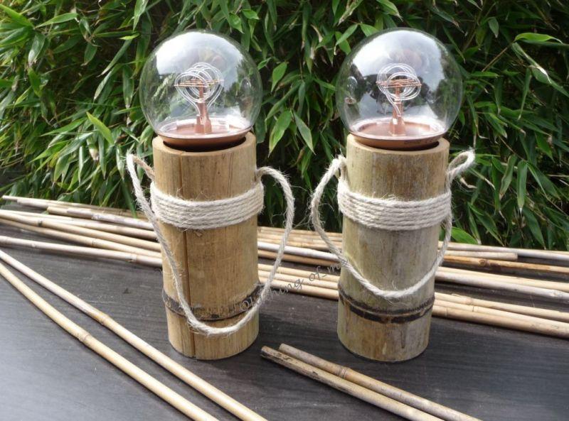 DIY Tischlampe Bambus