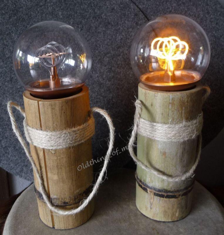 DIY Tischlampe Bambus 1