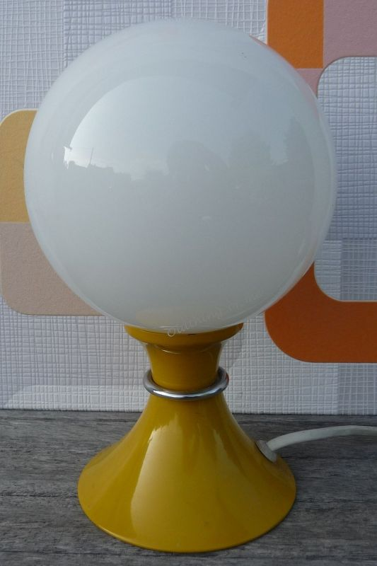 Hustadt Kugellampe Tischlampe 70er