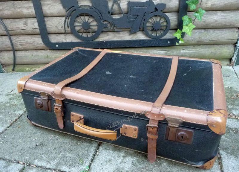 Schwarz kleiner Koffer shabby chic 70x40x20