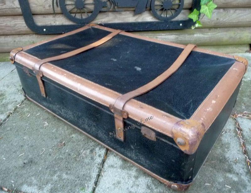 Schwarz kleiner Koffer shabby chic 70x40x20 2