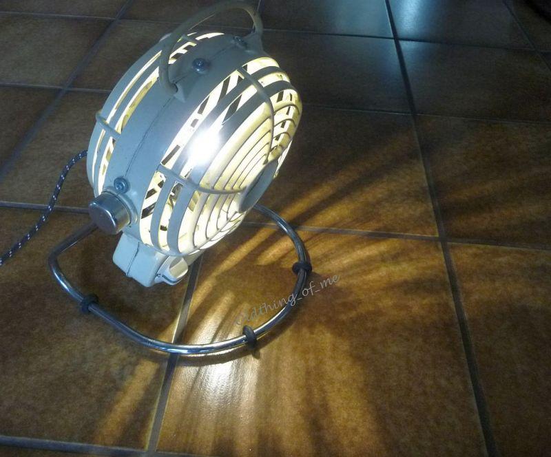 Upcycling A&S Heizlüfter als Lampe DIY 4