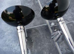 2 Wandlampe von Herstal Fakellampe