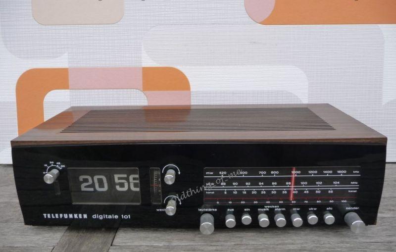 Telefunken Klappzahlenwecker Klappzahlenradio Digitale 101