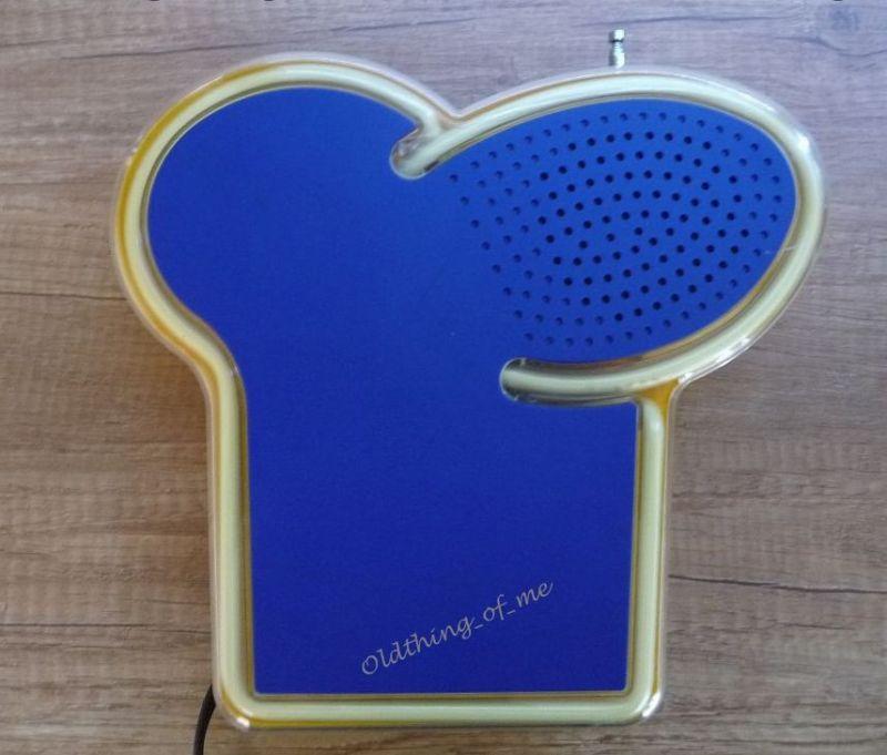 Thomy Radio Küchenradio Kochmütze Neonwerbung 1