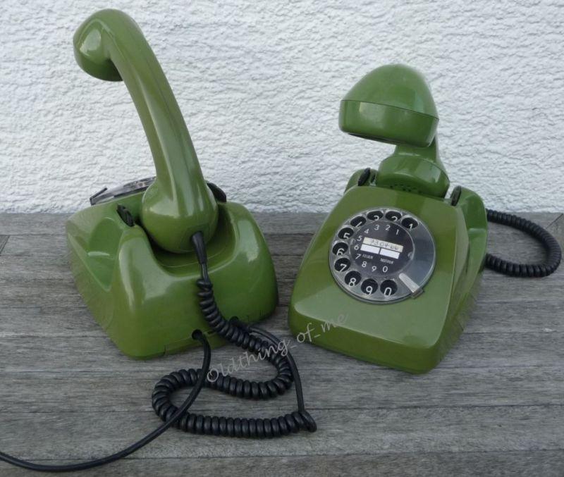 Tischlampe Telefon grün DIY Upcycling