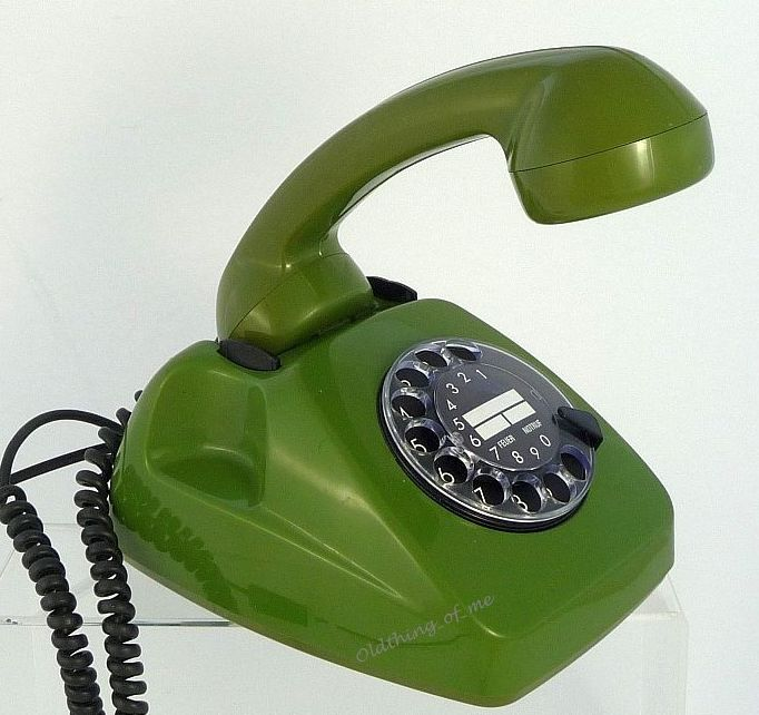 Tischlampe Telefon grün DIY Upcycling 1