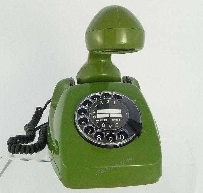 Tischlampe Telefon grün DIY Upcycling 3