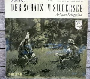 Der Schatz im Silbersee Karl May Single Vinyl Schallplatte 7\