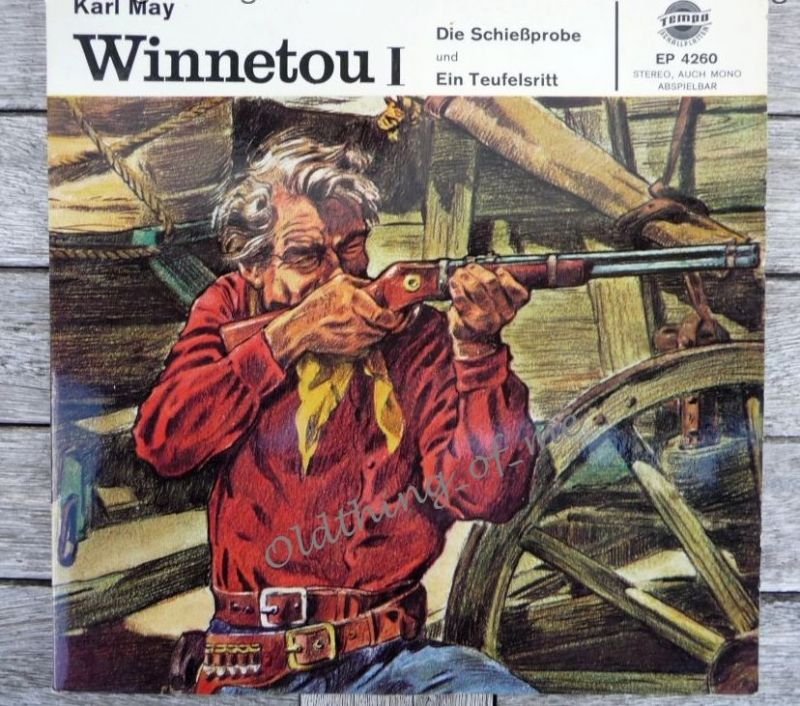 Winnetou 1 Single Karl May Vinyl Schallplatte 7\