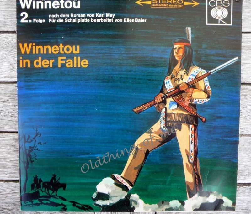 Winnetou 2.Folge Karl May Single Vinyl Schallplatte 7\